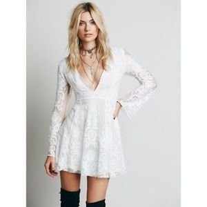 Free People Reign Over Me white lace dress 6
